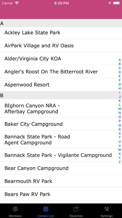 Montana – Campgrounds RV Parks