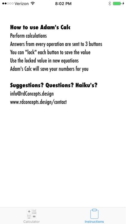 Adam's Calc screenshot-3