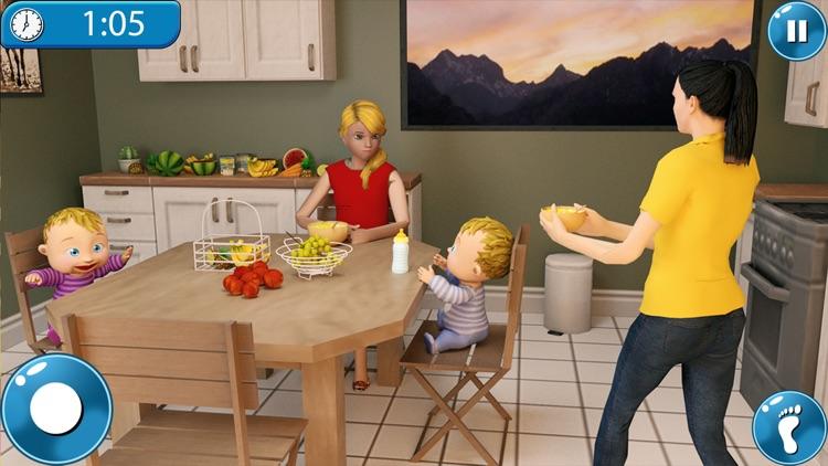 Newborn Twin Baby Mother Games screenshot-3