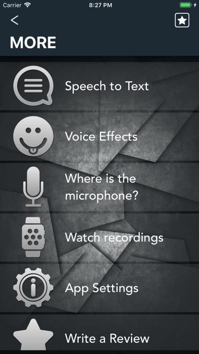 PARROT Audio recorder screenshot two