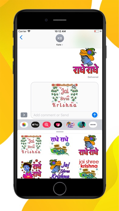 Jay Shree Krishna Stickers screenshot 3