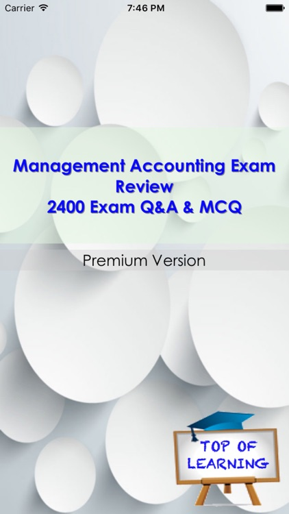Management Accounting 2400 Q&A