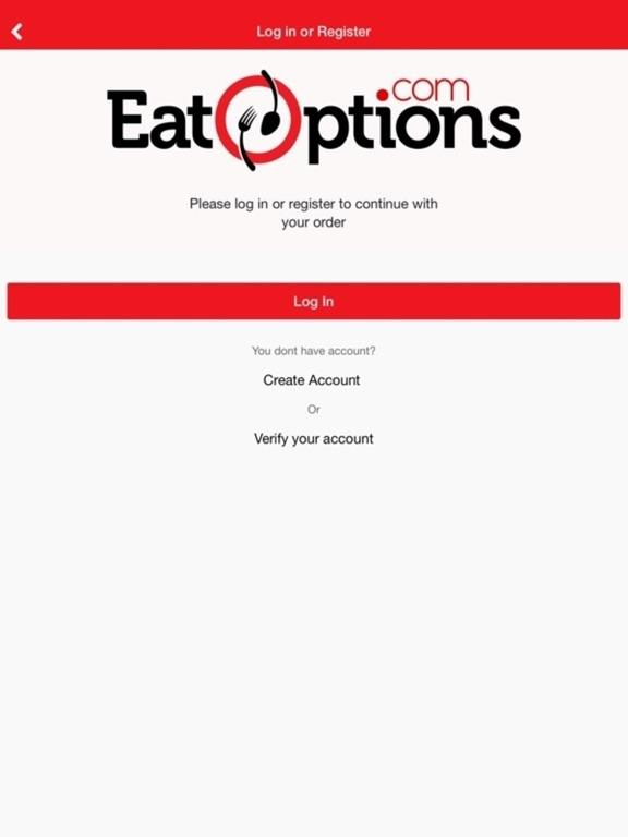 Screenshot #3 for EatoptionCustomer