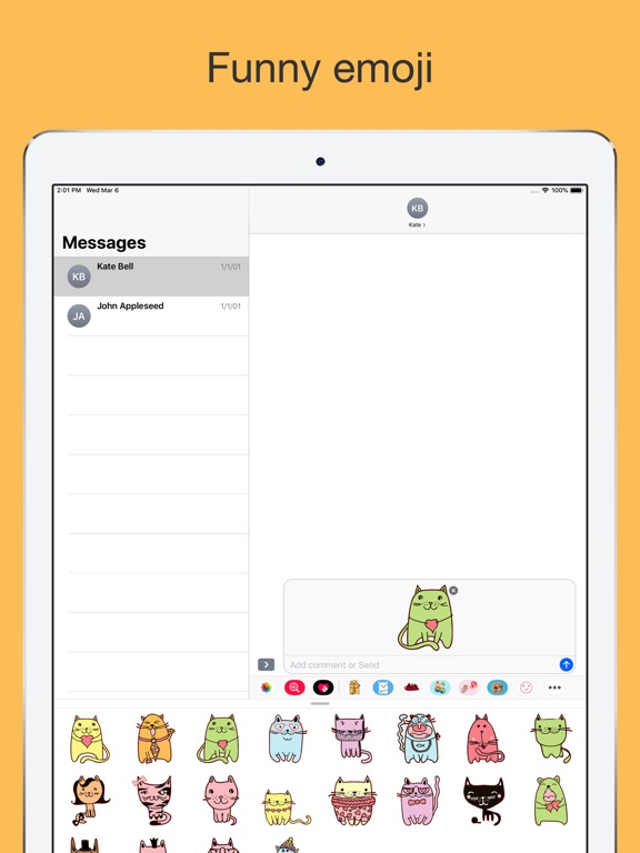 Cute cats - hand drawn emoji screenshot 8