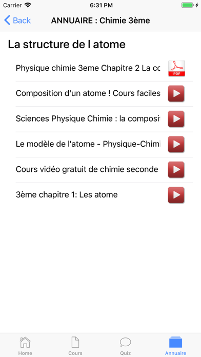 Chimie 3ème screenshot 7