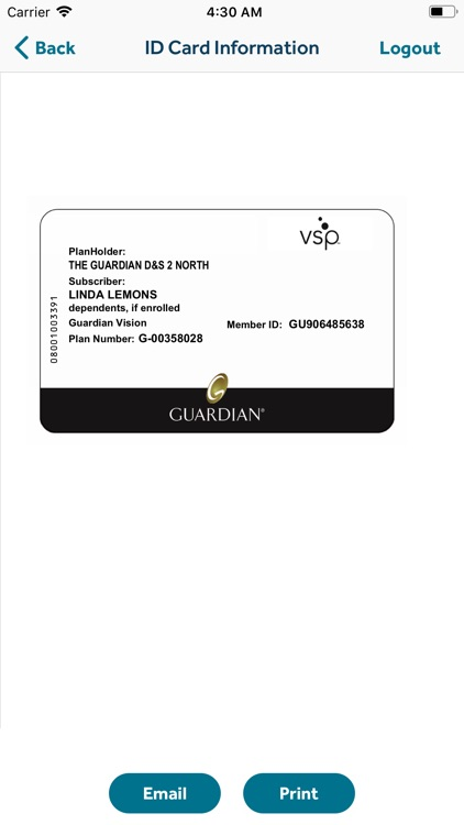 GUARDIAN® Providers & ID Card screenshot-5