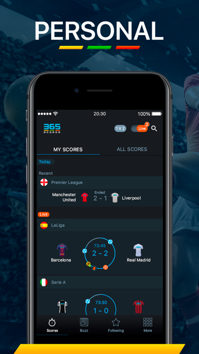 Screenshot for 365Scores - Live Scores in Estonia App Store
