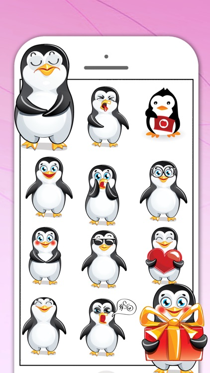 Penguin Sticker for iMessage screenshot-3