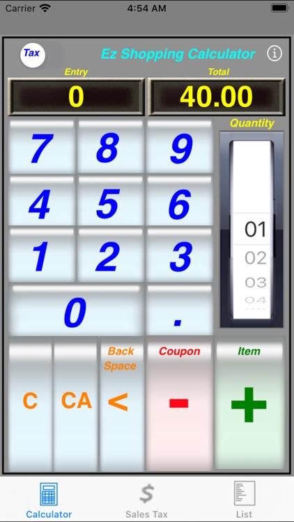 Ez Shopping Calculator