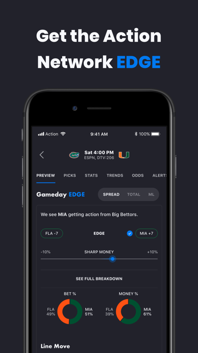 Action Network Sports Betting Screenshot