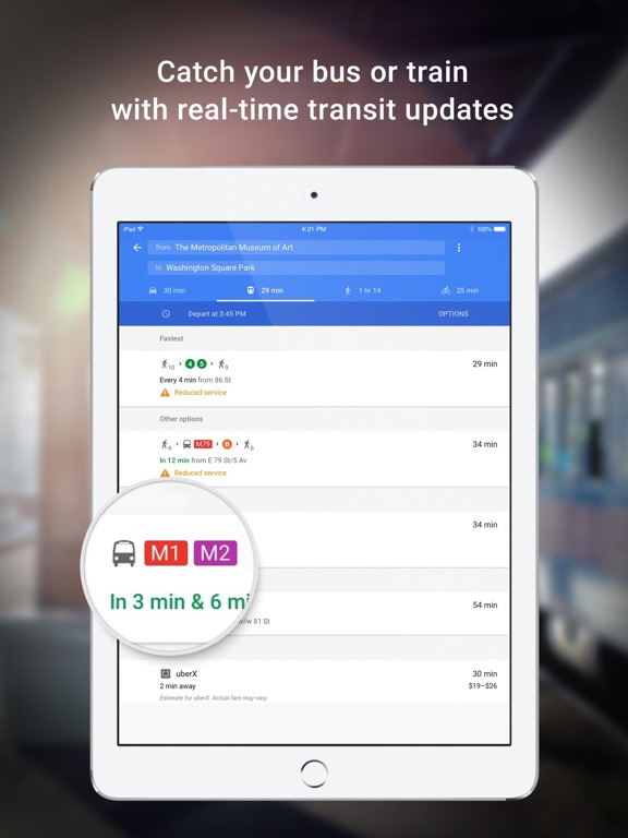 Google Maps - Transit & Food-ipad-1