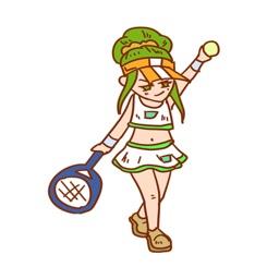 网球女孩贴图