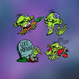 Vegetarian Zombie Stickers