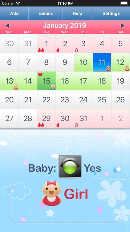 Menstrual Calendar for Men