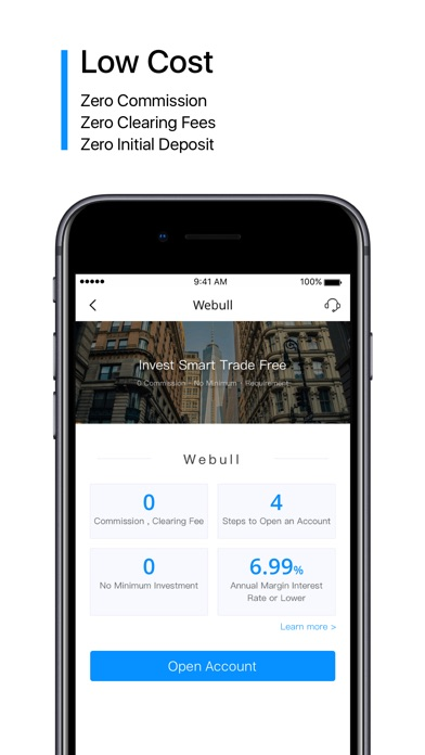 Webull: Trade  Save  Invest  - App - iOS me