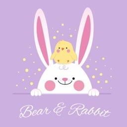Bear Rabbit Stickers