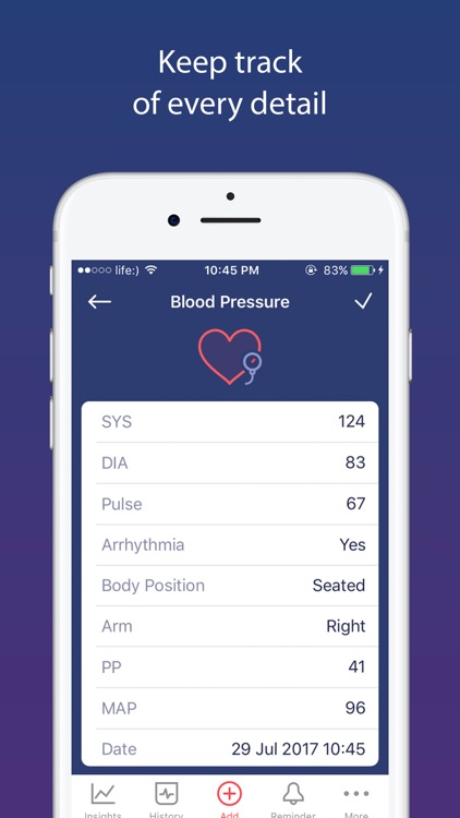 Blood Pressure app BP Checker screenshot-3