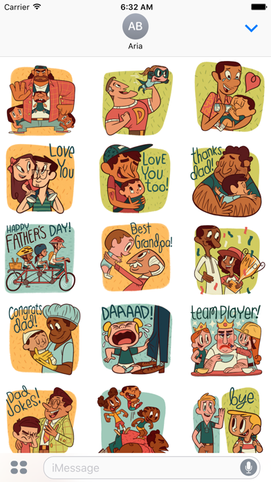 Happy Father Day Sticker Pack screenshot 1