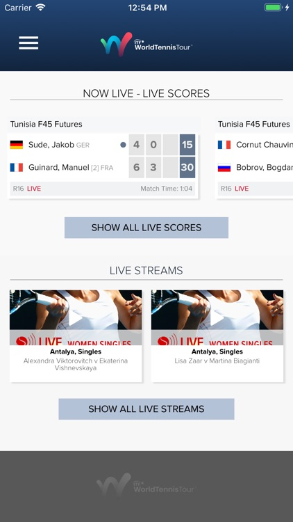 ITF Live Scores