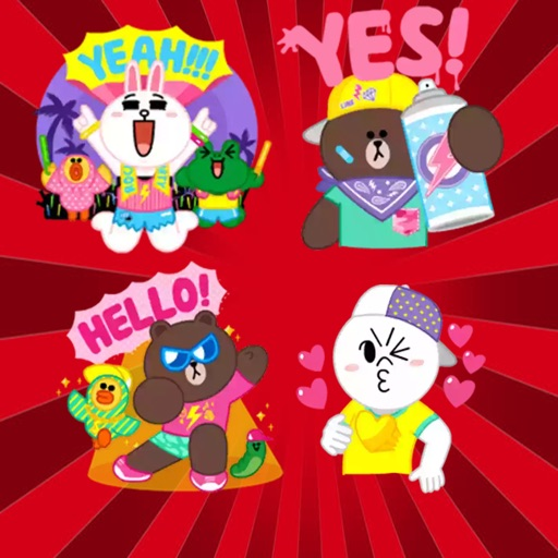 Brown  Cony Party time Sticker