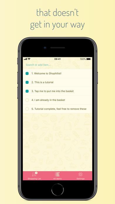 Shophilist Screenshot