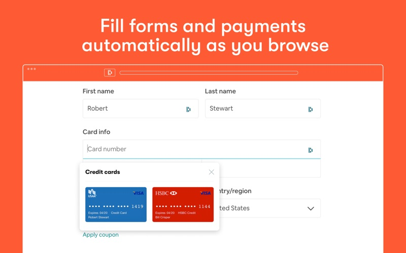 Dashlane for Safari Screenshot