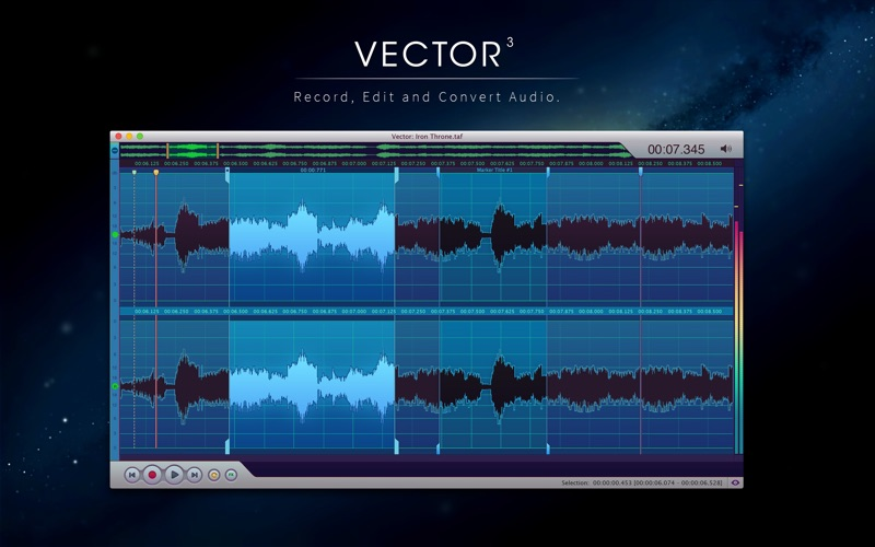 Vector 3 - Record & Edit Audio Screenshot 1