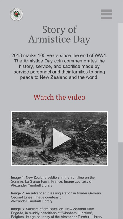 RBNZ Armistice Day Coin screenshot-3