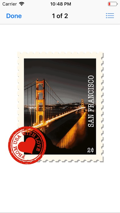Travel Love Stamps Stickers