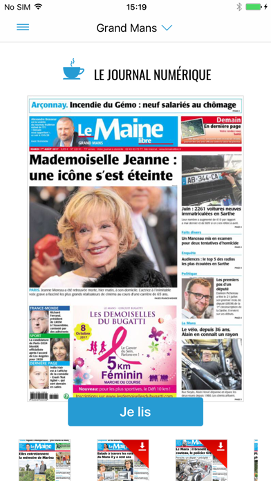 Le Maine Libre - Journal screenshot one