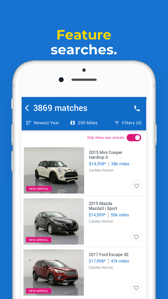 Used Cars Kenner >> Carmax Used Cars For Sale App For Iphone Free Download