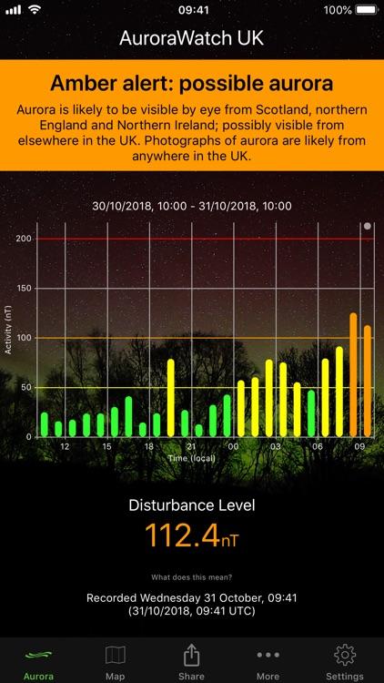 AuroraWatch UK Aurora Alerts screenshot-0