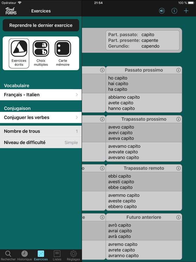 Italien Verbes Little Dans L App Store