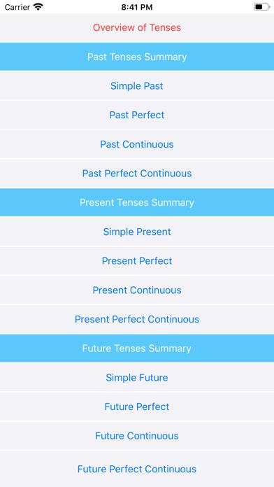 Tenses screenshot 1