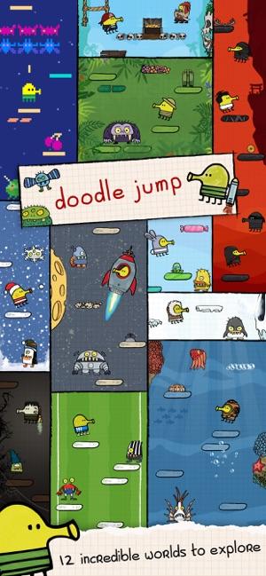 Doodle Jump - springe dich an die Spitze!