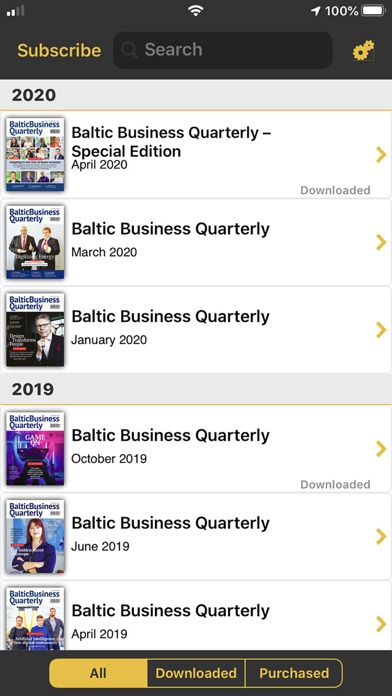Baltic Business QuarterlyScreenshot of 1