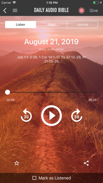 Daily Audio Bible Mobile App