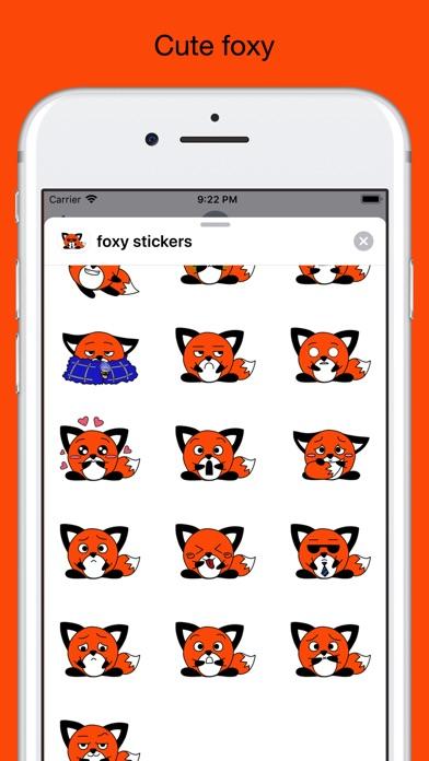 Foxy fox - emoji stickers pack screenshot 2