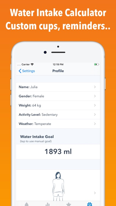 Screenshot for WaterMinder® in United States App Store