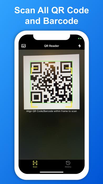SkyBlueScan:QRコードスキャナーのスクリーンショット1