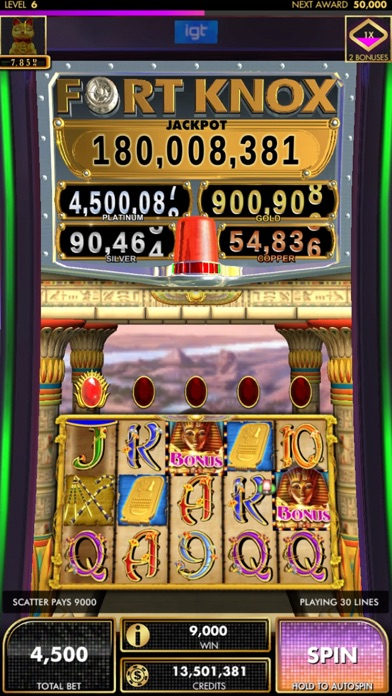 DoubleDown Fort Knox Slots Screenshot on iOS