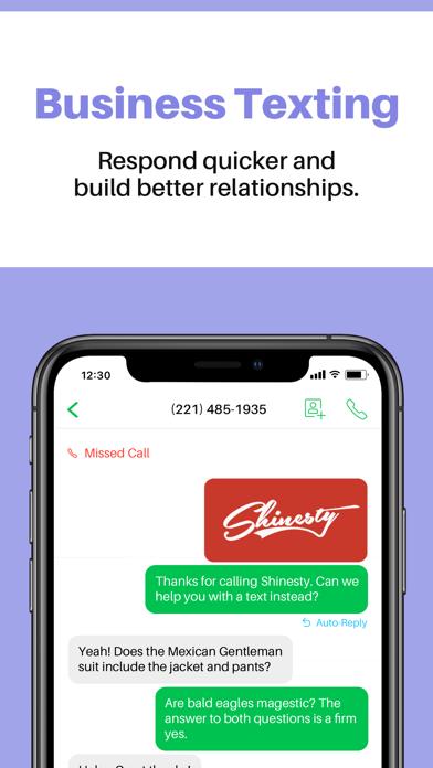 Sideline Business Phone Number Screenshot