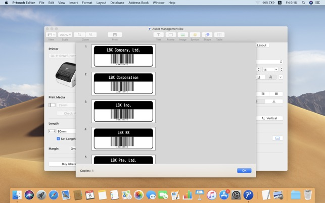 Brother P Touch Editor On The Mac App Store