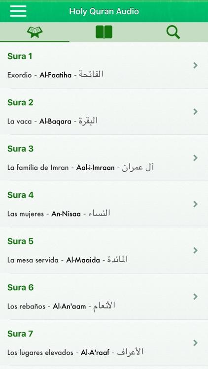 Corán Audio Pro: Español,Árabe