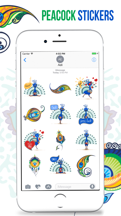 Peacock Stickers screenshot two