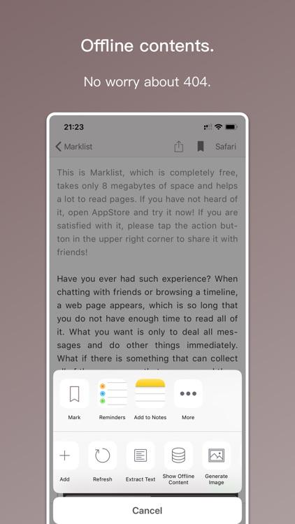 Marklist - Manage Later Things screenshot-4