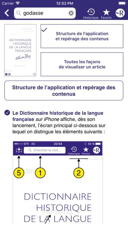 Dictionnaire Robert Historique screenshot-9