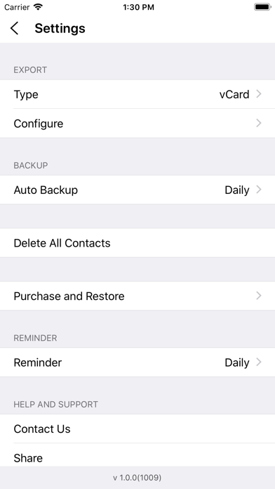 Contacts Backup Pro - Advanced