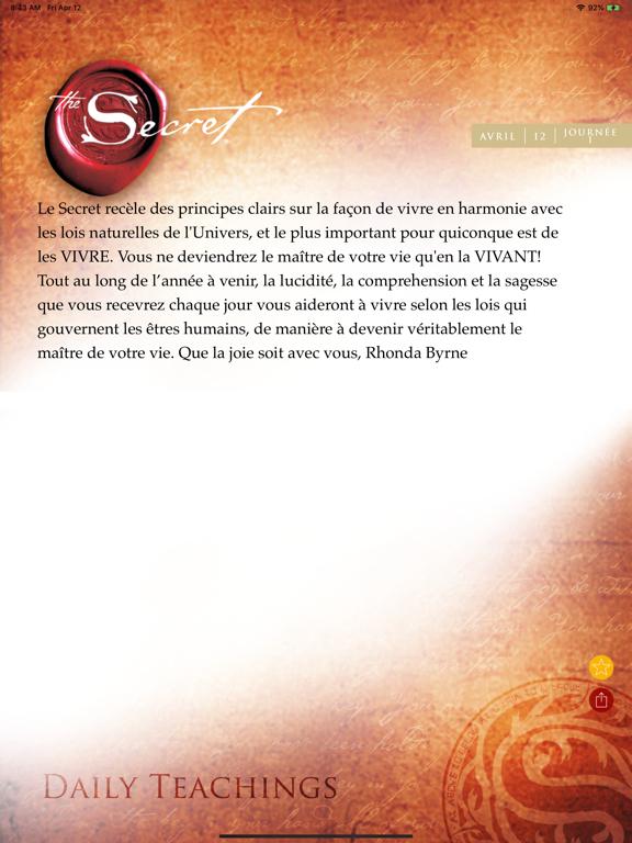 Screenshot #5 pour Le Secret - Enseignements