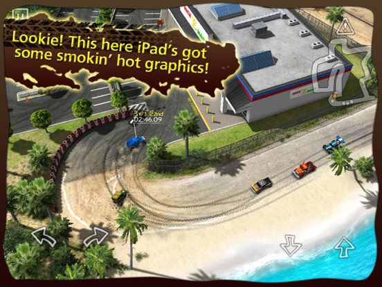 Reckless Racing HD на iPad